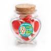 Baby Tiger Birthday Heart Glass Jar