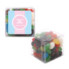 Blue and Pink Stripes Baby Shower Sweet Cubes