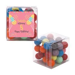 Pink Balloon Birthday Sweet Cubes