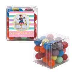 Girly Stripes Birthday Sweet Cubes