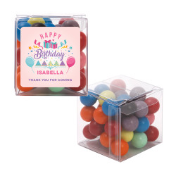 Pink Party Birthday Sweet Cubes
