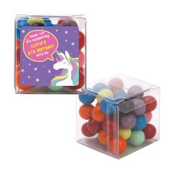 Purple Unicorn Birthday Sweet Cubes