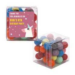 Mauve Unicorn Birthday Sweet Cubes