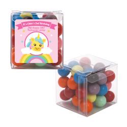 Rainbow Unicorn Birthday Sweet Cubes