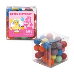 Pink Unicorn Party Birthday Sweet Cubes
