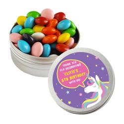 Purple Unicorn Birthday Twist Tins