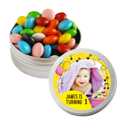 Yellow Birthday Twist Tins
