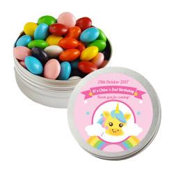 Rainbow Unicorn Birthday Twist Tins