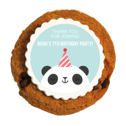 Panda Birthday Printed Cookies