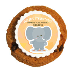 Baby Elephant Birthday Printed Cookies