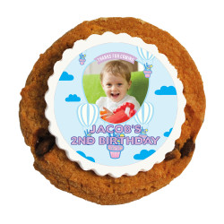 Cupcake Balloon Birthday Printed Cookies
