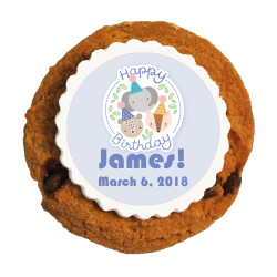 Three Animals Birthday Printed Cookies