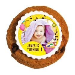 Yellow Birthday Birthday Printed Cookies