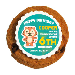 Baby Tiger Birthday Printed Cookies