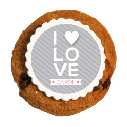 I ♥ Love Valentine Printed Cookies