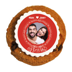 I Love You Valentine Printed Cookies