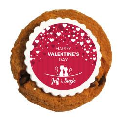 Red Hearts Valentine Printed Cookies
