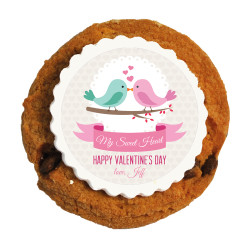 Love Birds Valentine Printed Cookies