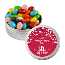 Red Hearts Valentine Twist Tins