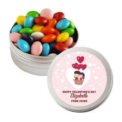 Love Air Balloon Valentine Twist Tins