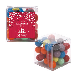 Red Hearts Valentine Sweet Cubes