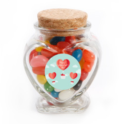 Heart Air Balloon Valentine Glass Jar