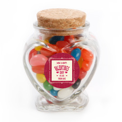 Happy Valentine's Day Glass Jar