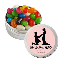 Pink Groom and Bride Twist Tins