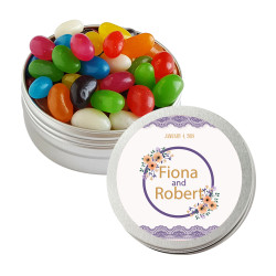 Purple and Orange Flowers Twist Tins