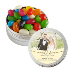 Cream Custom Photo Twist Tins