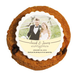 Cream Custom Photo Printed Cookies