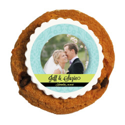 Blue and Green Custom Photo Printed Cookies