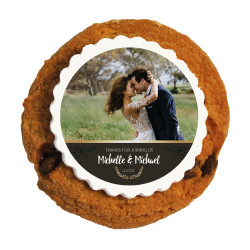 Brown Custom Photo Printed Cookies