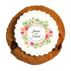 Flowers Wedding Printed Cookies