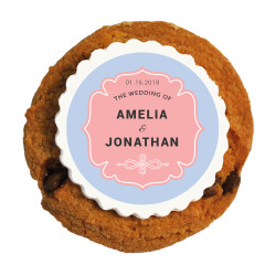 Pink Wedding Printed Cookies