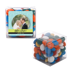 Blue and Green Custom Photo Sweet Cubes