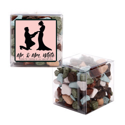 Pink Groom and Bride Wedding Sweet Cubes
