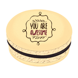 You Are Awesome ❤ Printed Macarons
