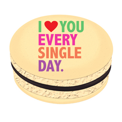 I ❤ You Every Single Day Printed Macarons