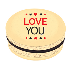 Love You  ❤ Printed Macarons