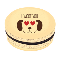 I Woof You ❤ Printed Macarons