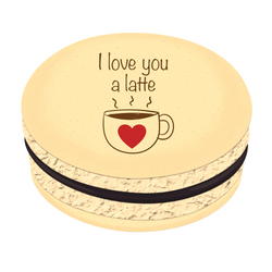 I Love You a Latte ❤ Printed Macarons