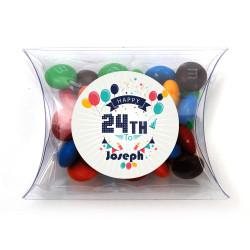 Party Balloons Birthday Pillow Box