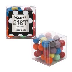 Silver Polkadots Birthday Sweet Cubes