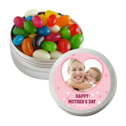 Pink Hearts Custom Photo Mother's Day Twist Tins