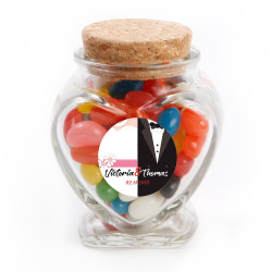 Tux and Gown Wedding Glass Jar