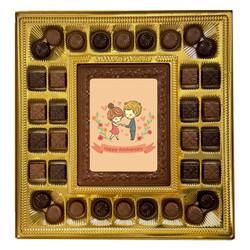 Pink Couple Happy Anniversary Deluxe Chocolate Box