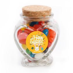 Orange Bunny Easter Glass Jar