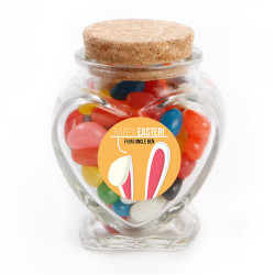 Orange Easter Bunny Ear Glass Jar