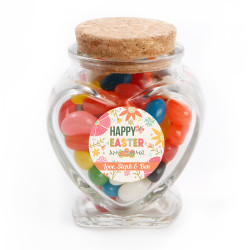 Colorful Flower Easter Glass Jar